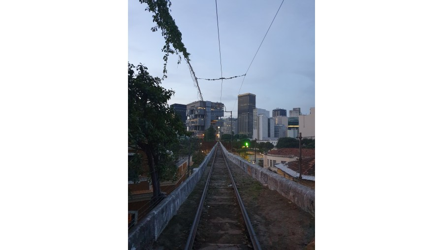 Santa Teresa tram rails
