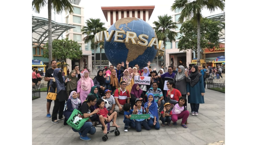 Group photo at USS Globe