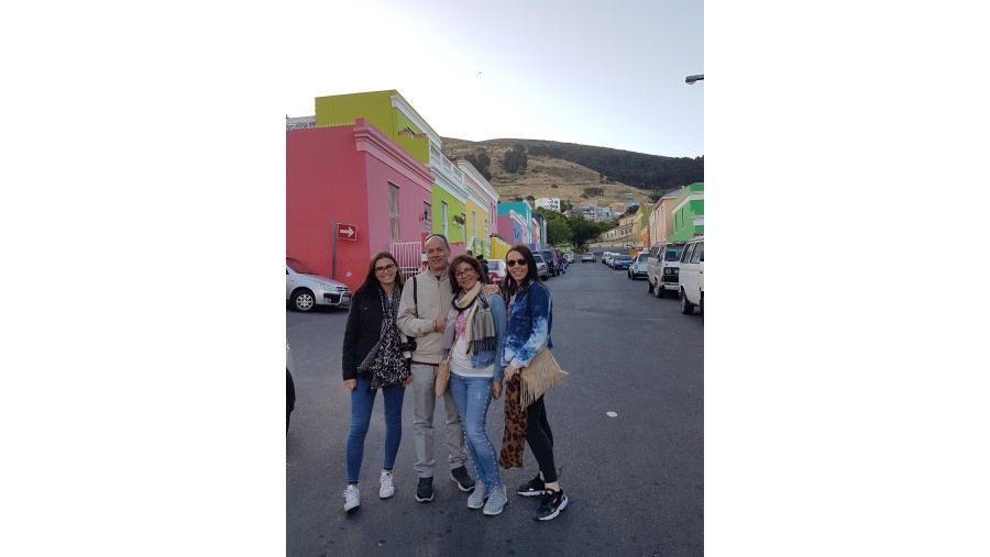The rows of colorful houses in Bo-kaap
