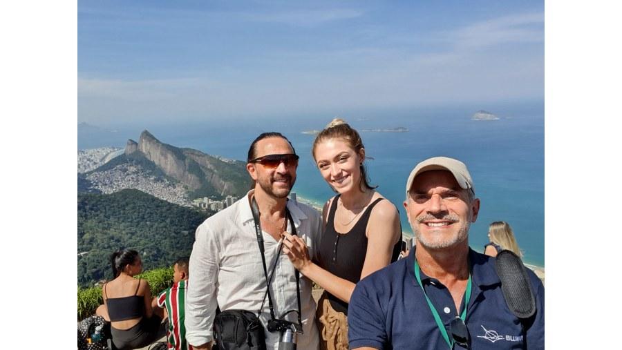 Pedra Bonita stone view with tourists