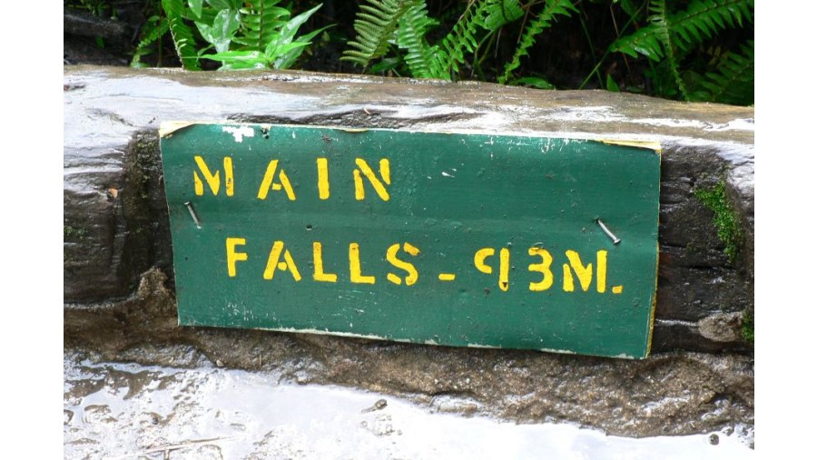 This is the height of the Main Falls