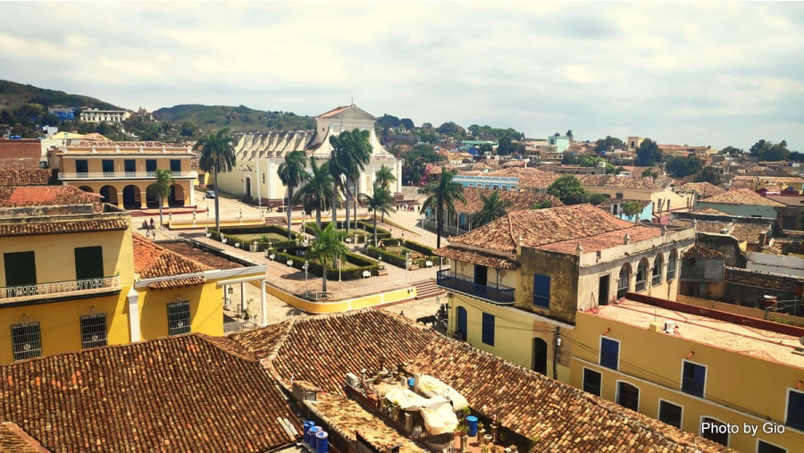 View from the tower of Palacio Cantero