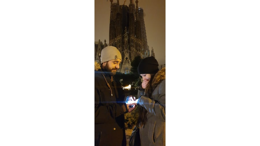Engagment in Barcelona with tour