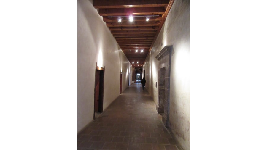 Rooms corridor at cloister