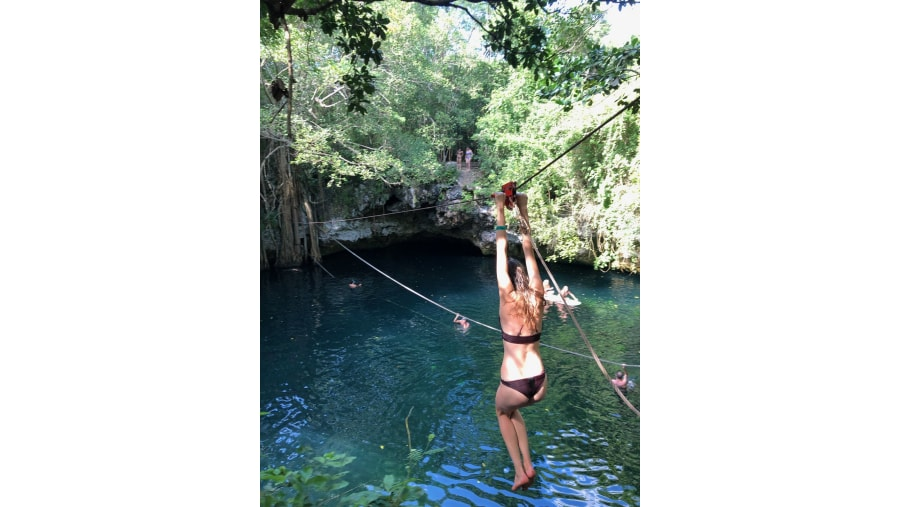 A cenote is the best option for a fresh swim!!