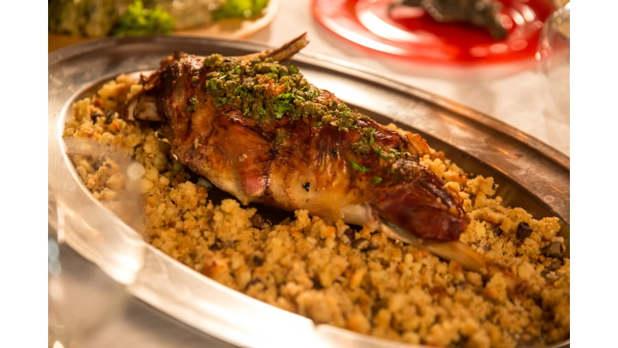 albania food, Roasted lamb, berat food,Castle Park restaurant in Berat,