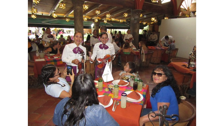 Mariachi singers for our group