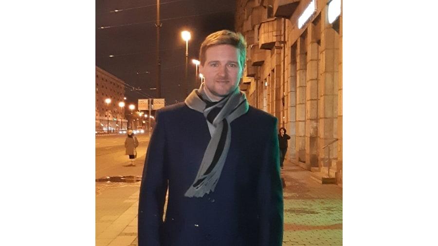 Me on an evening street