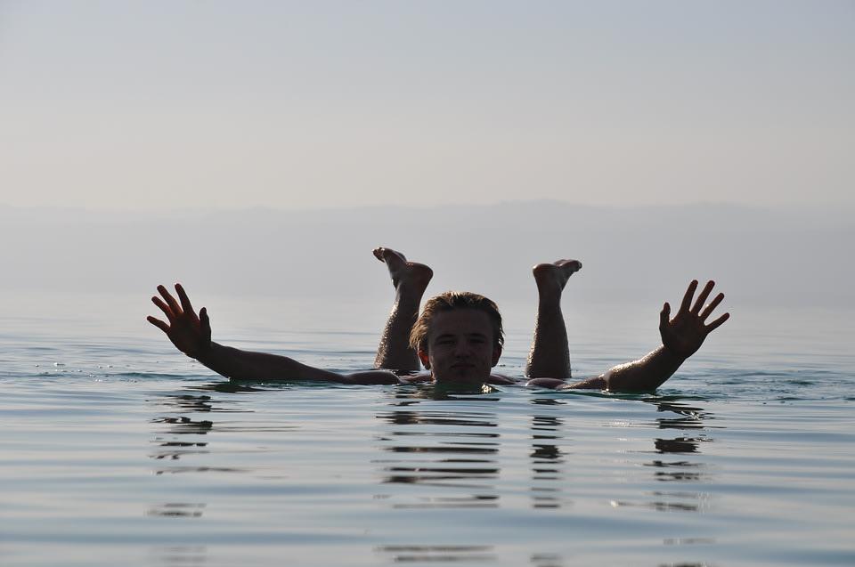 Float in Dead Sea