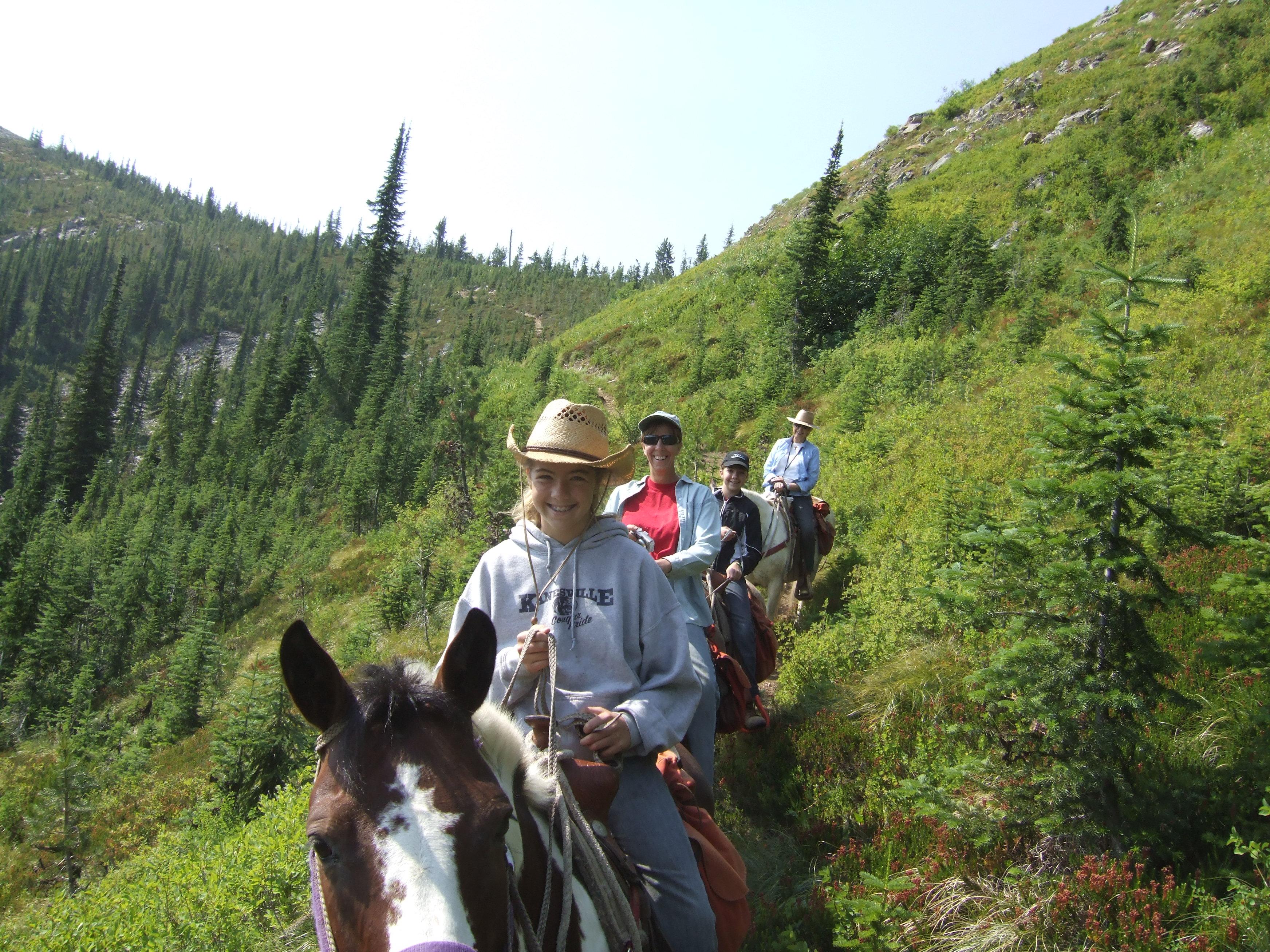 Horse-Riding along Bitterroot Range