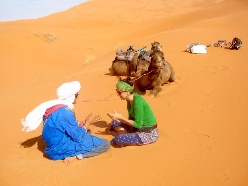 camel ride in Desert Camp, Marrakech