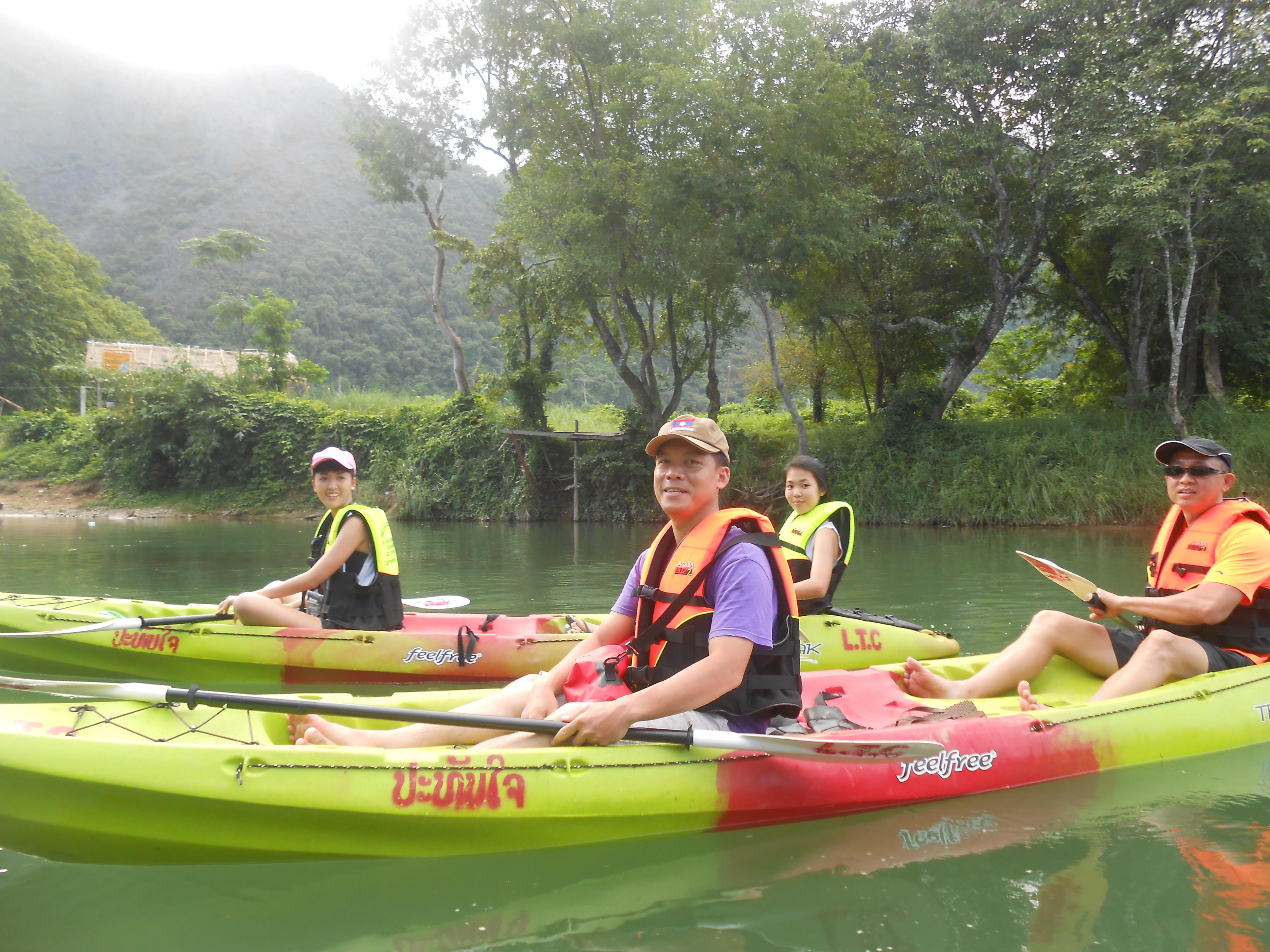 Kayaking in River Namxong