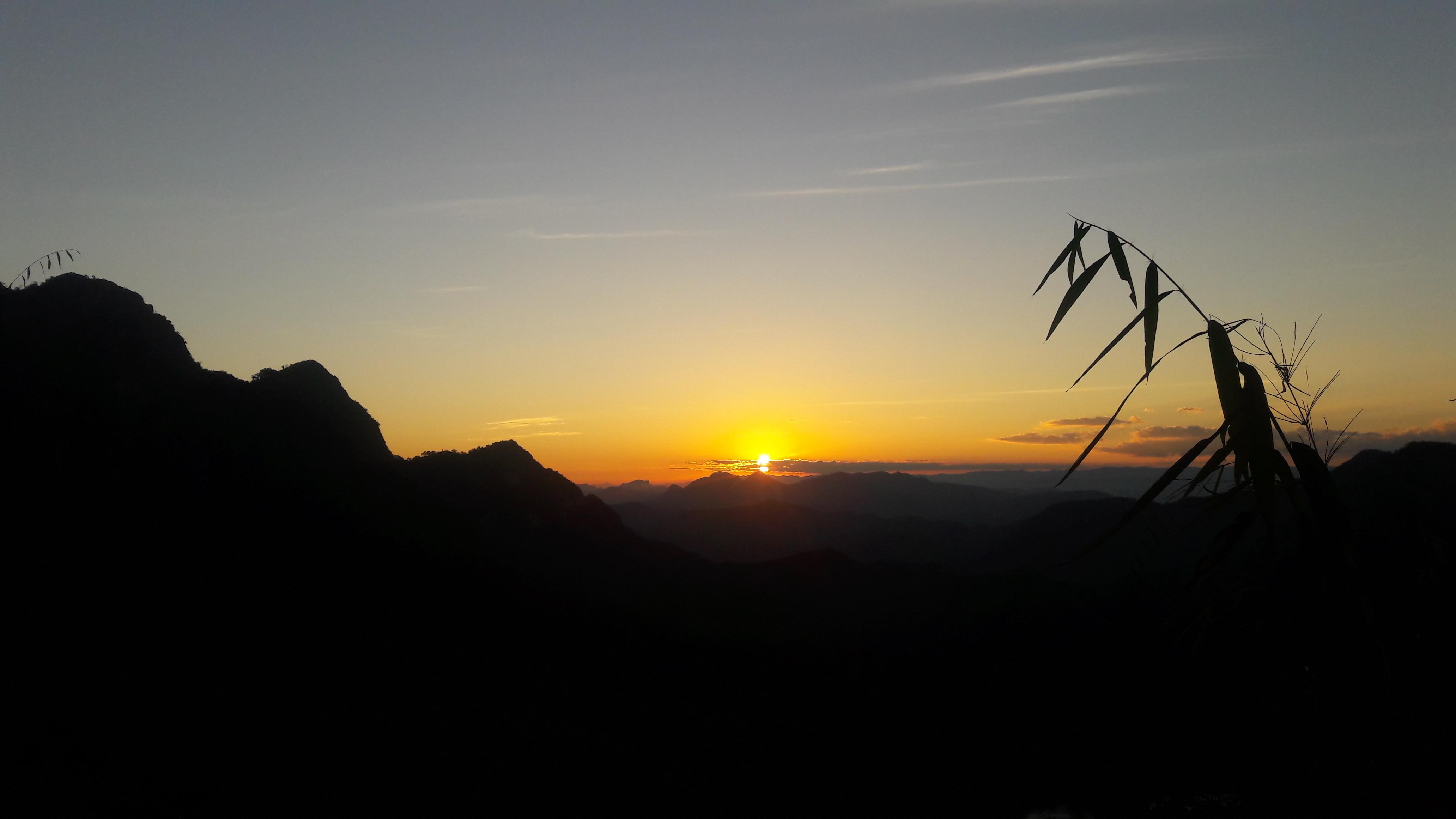 Sunrise from Mount  Mount Phousi