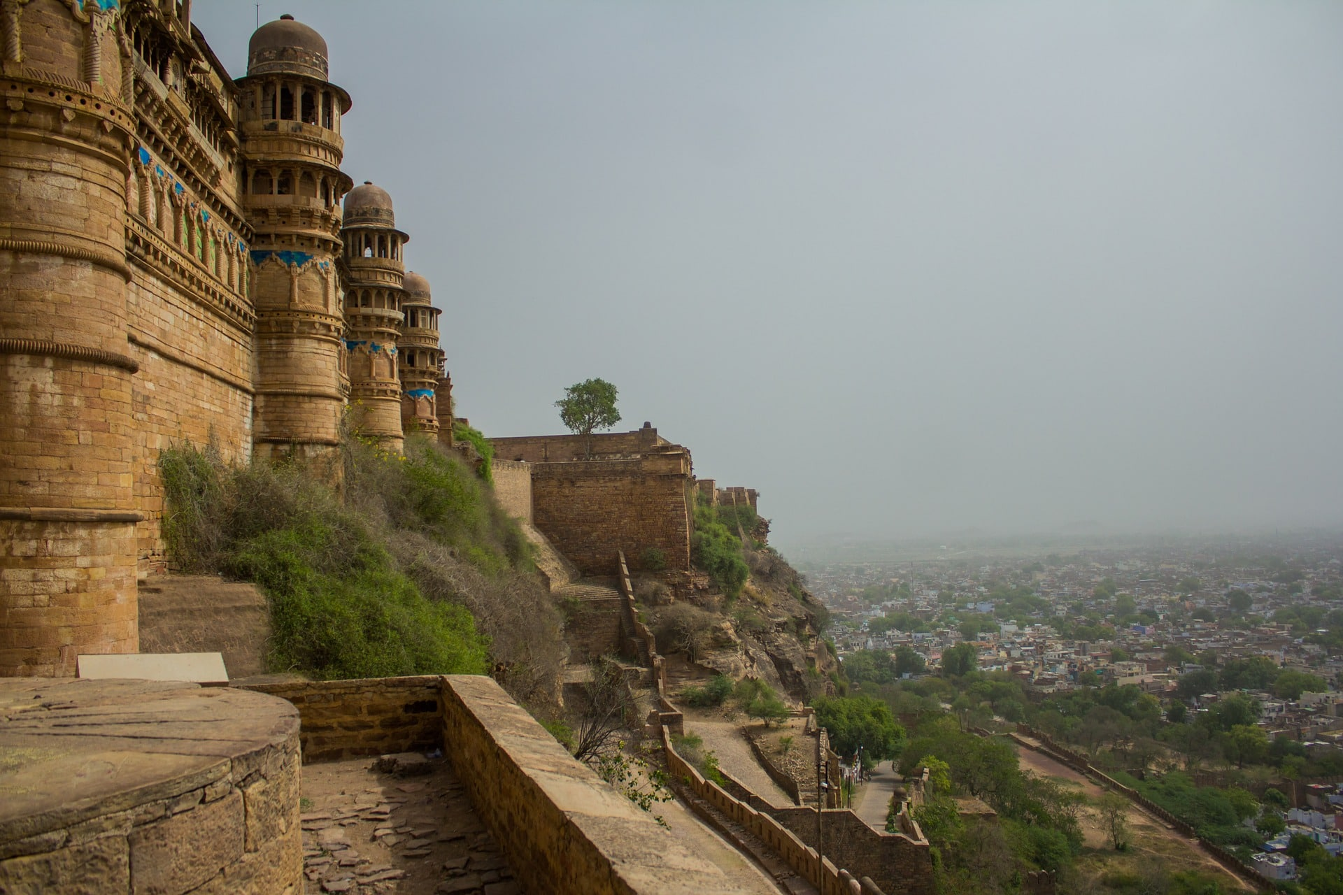 View of the city from the Gwalior Fort