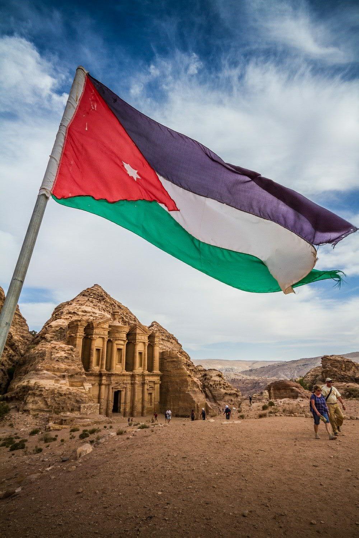 The national flag of Jordan