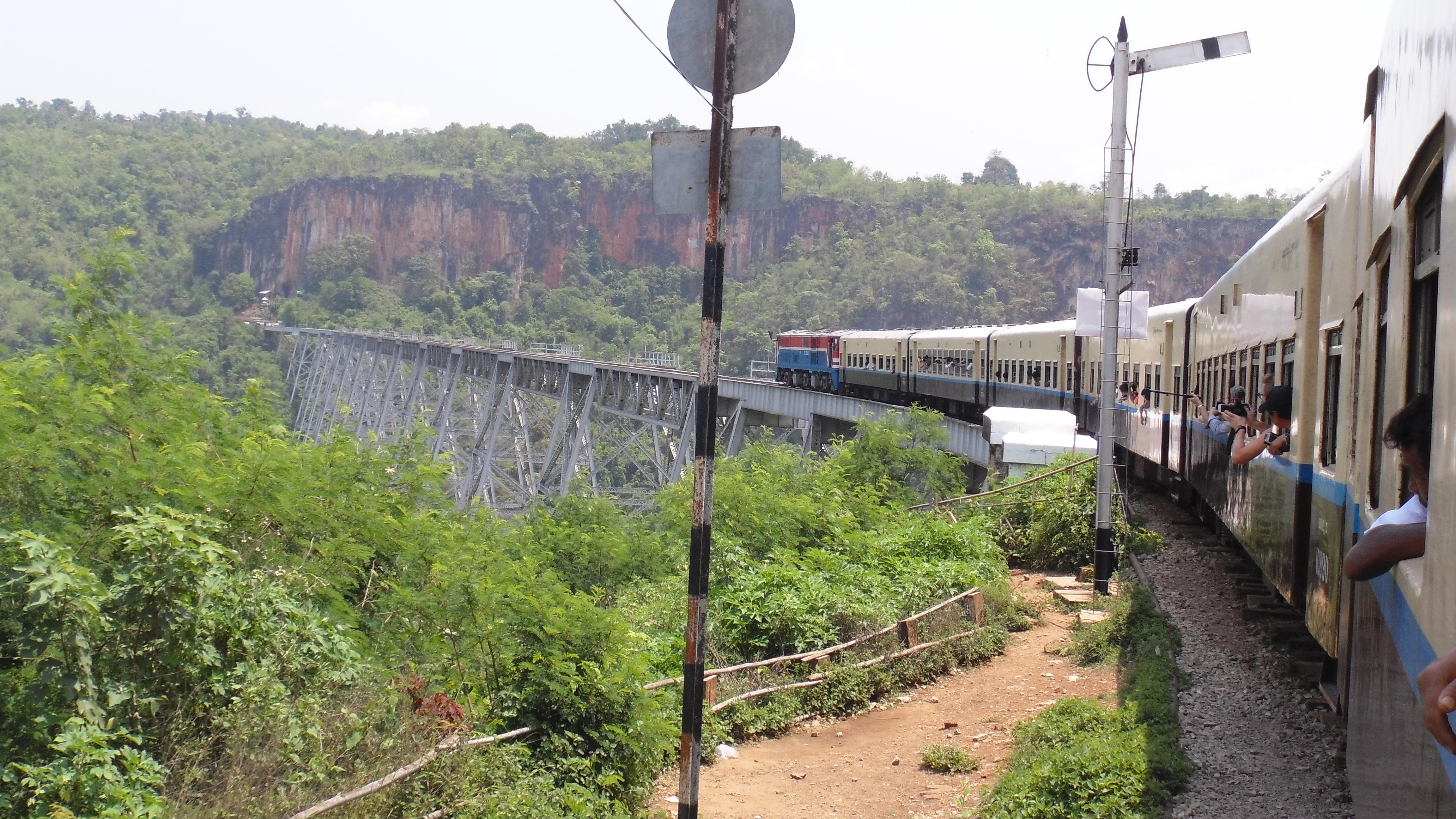 Train to Gokteik Viaduct