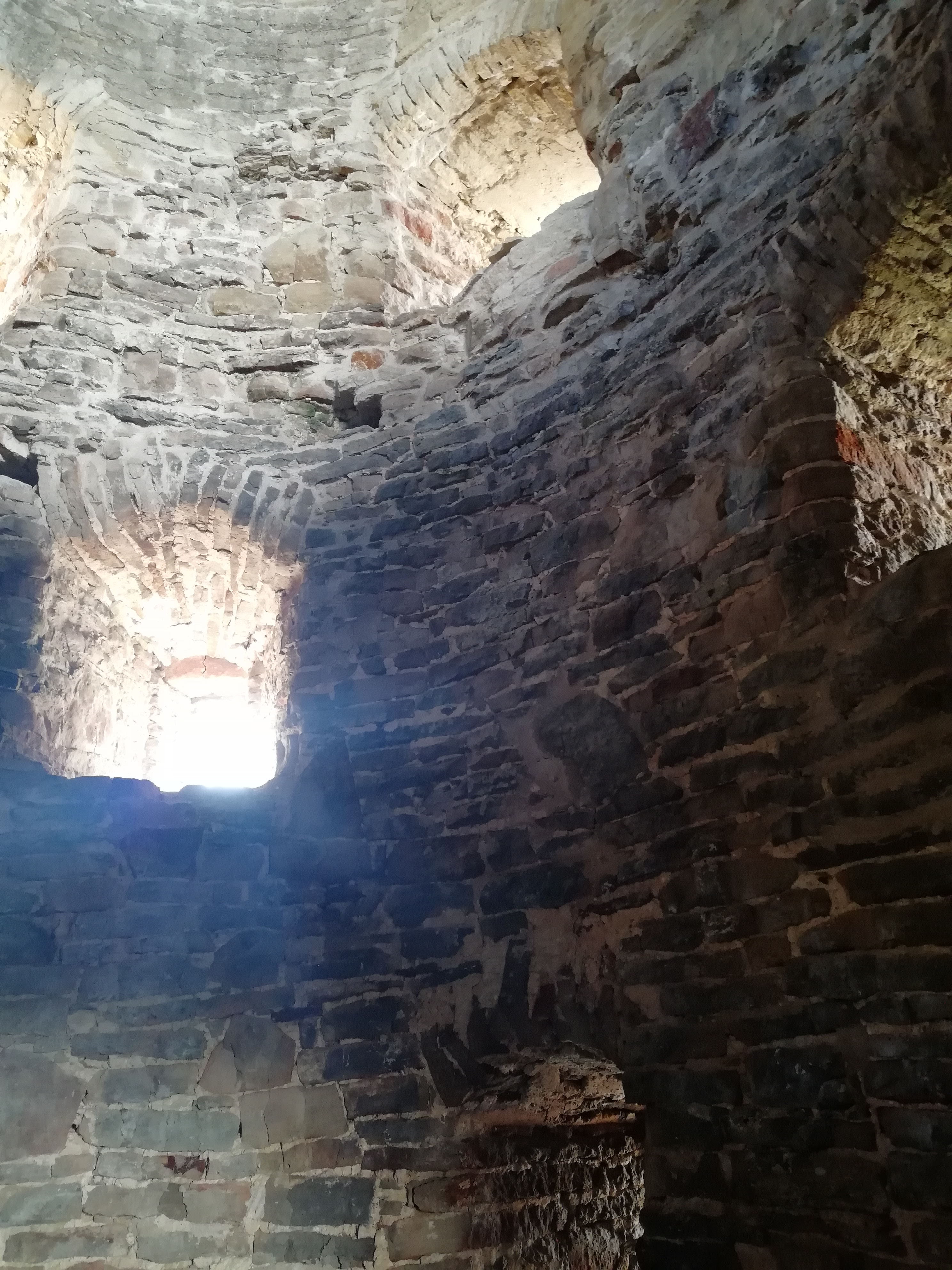 Inside a mighty tower of Izborsk fortress