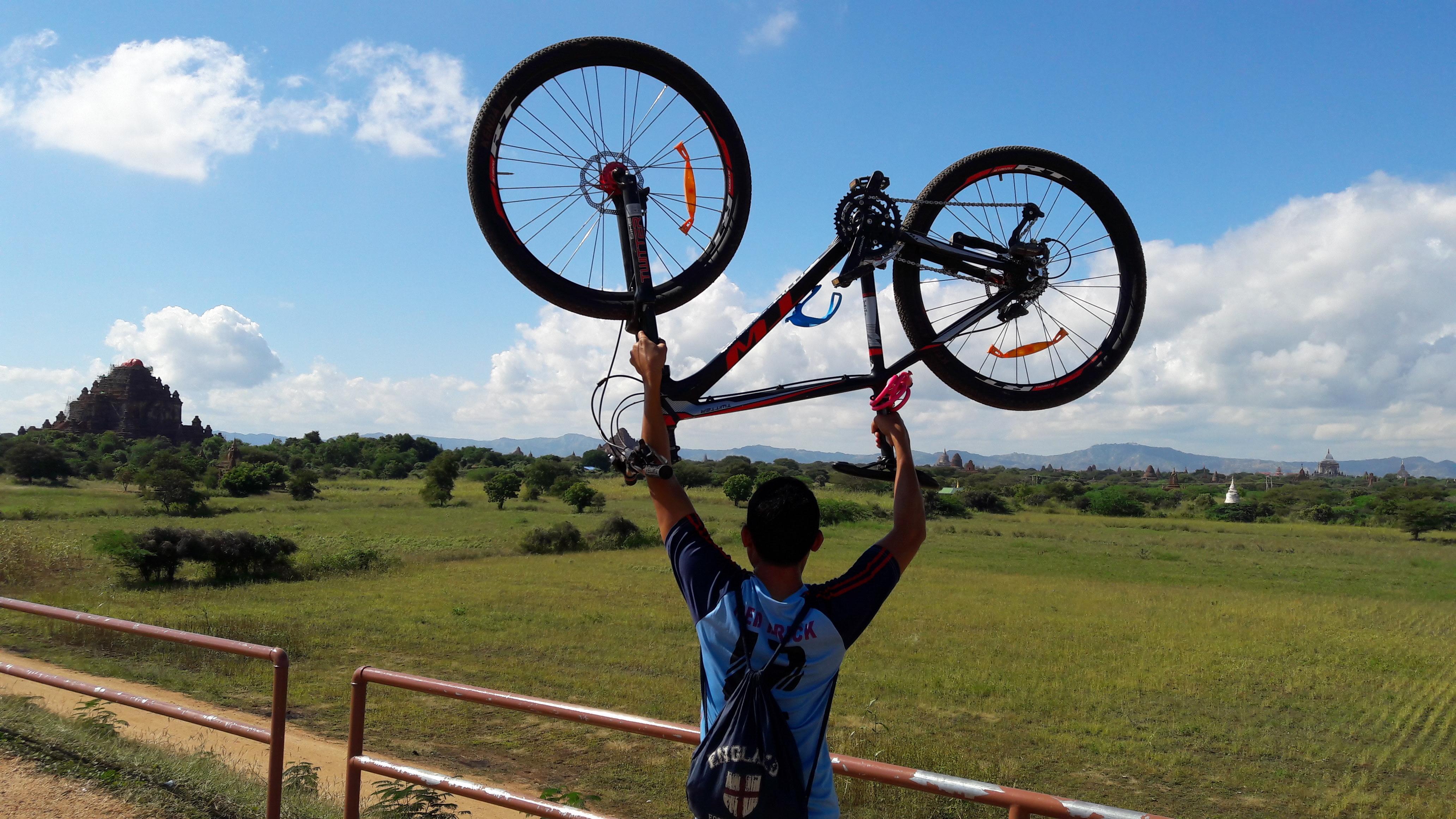 Mountain biking in Bagan is a great experience
