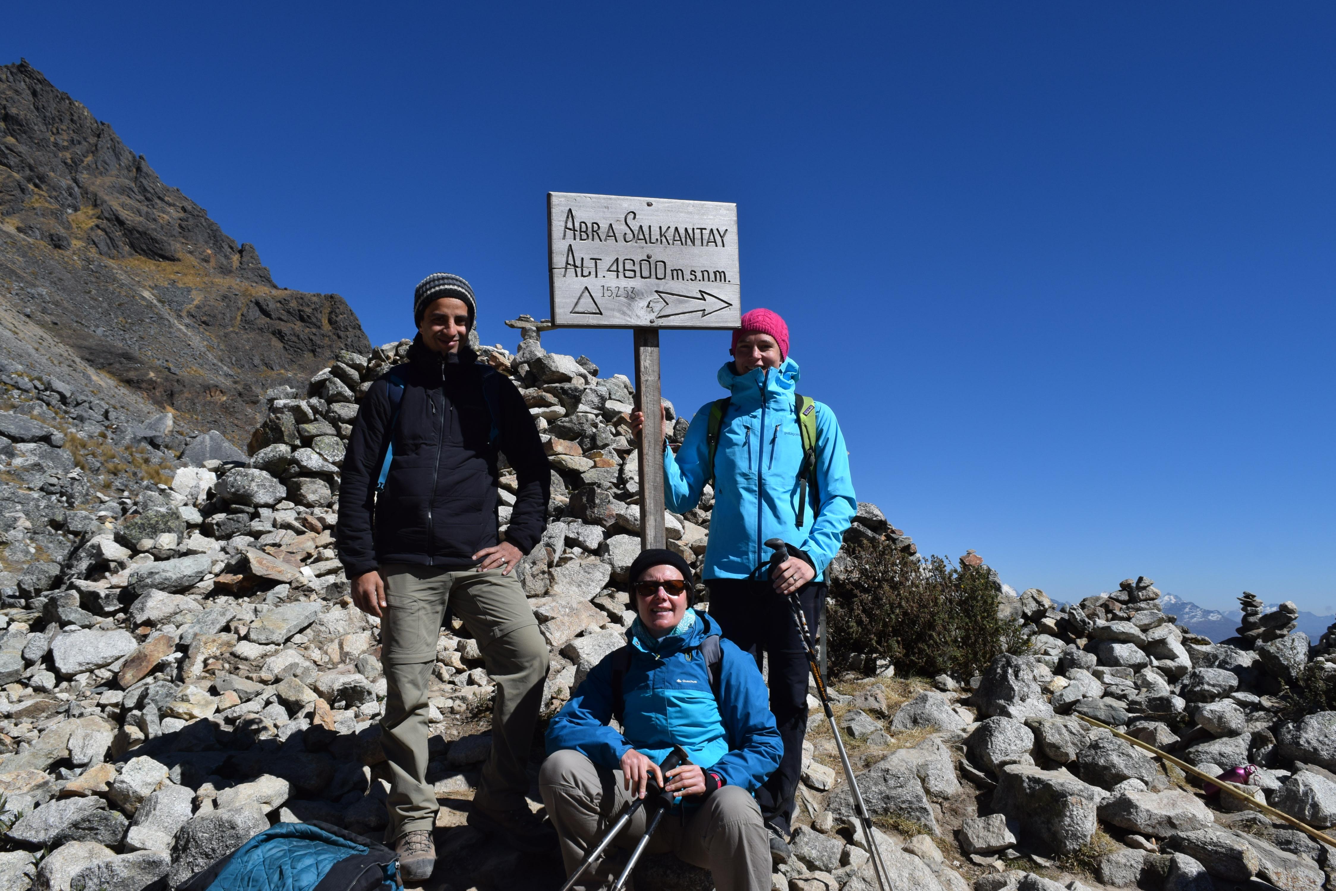 Reach the highest point on the Salkantay pass