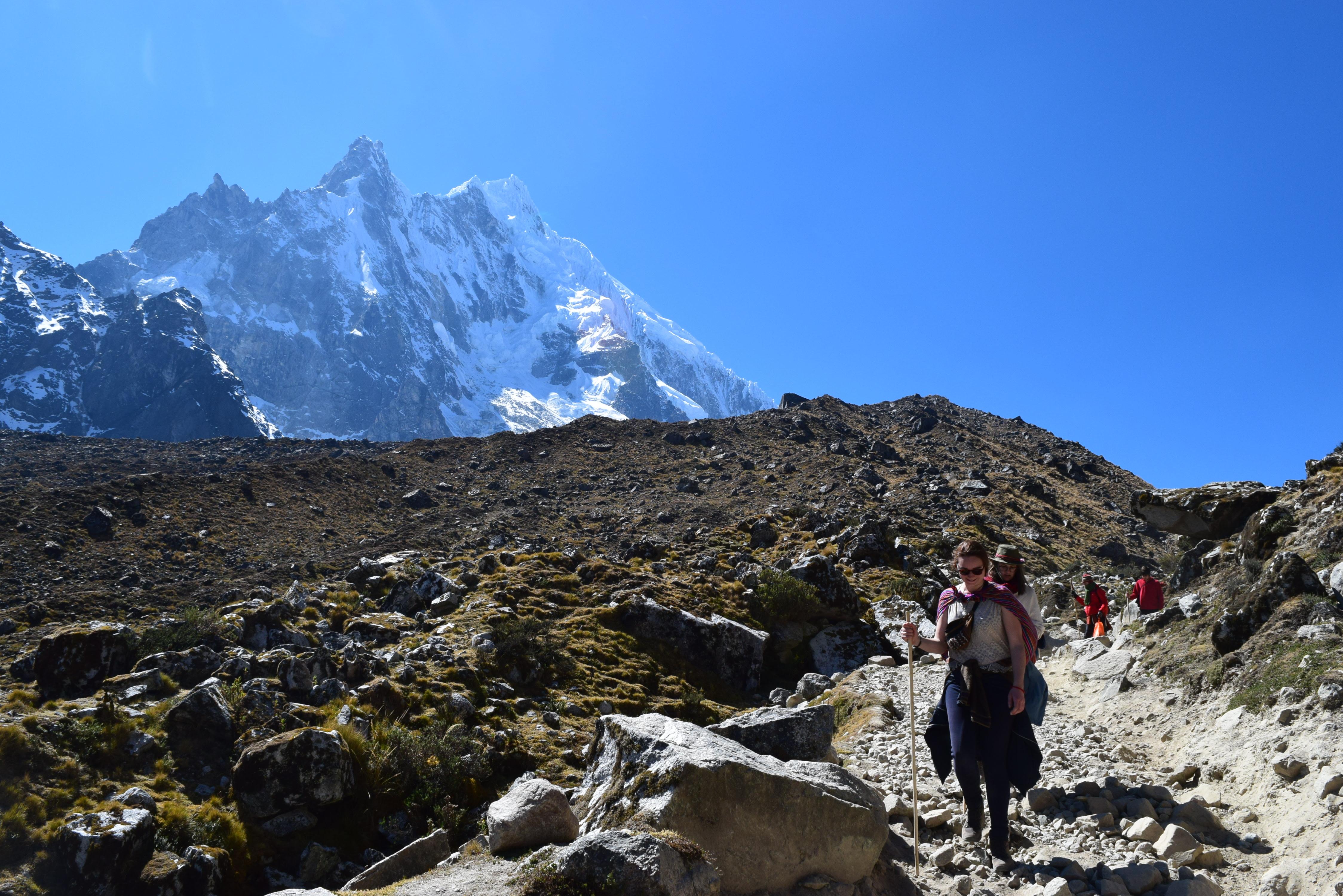 Climb up the Salkantay pass
