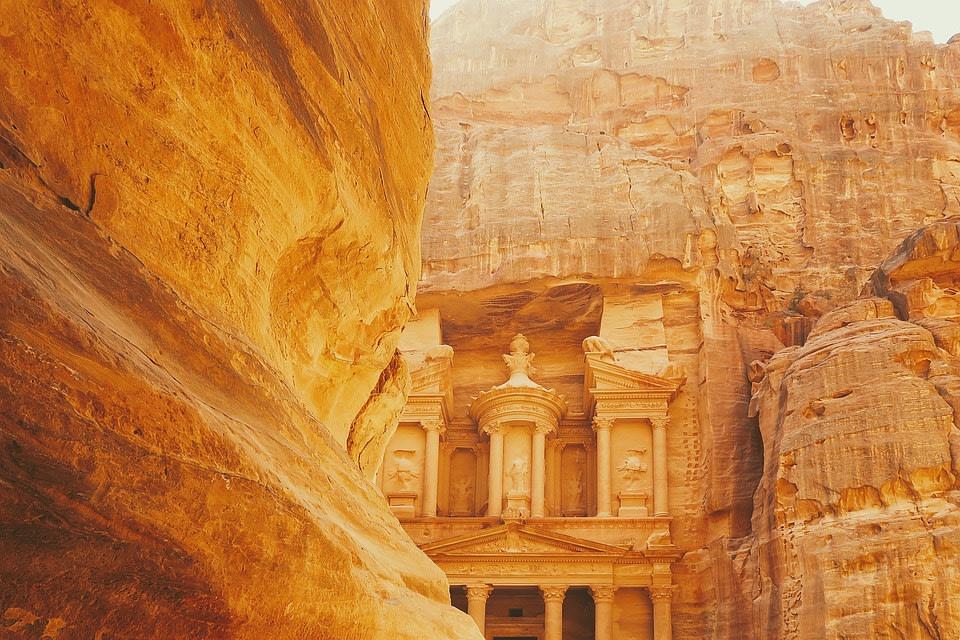 A Spectacular View of Petra, Jordan