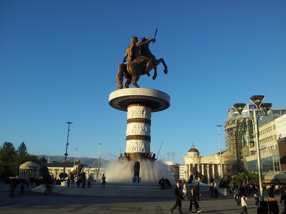 Statue of Alexander the Great at Macedonia Square