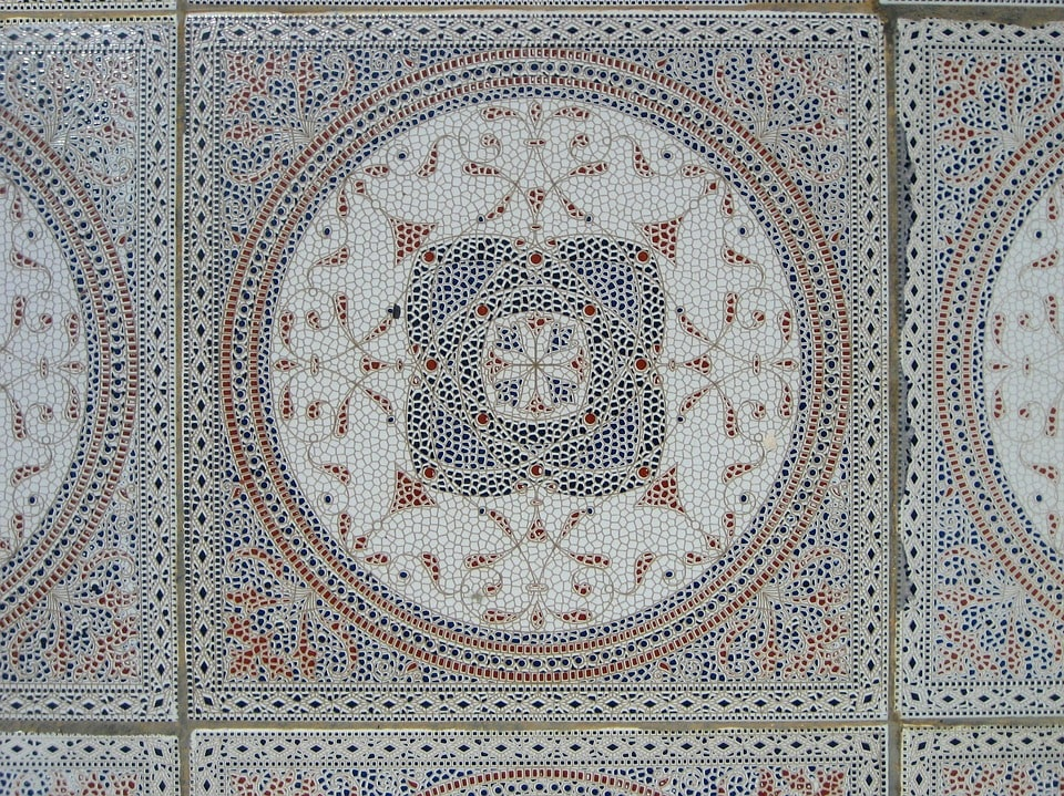 Tiles pattern on a monument