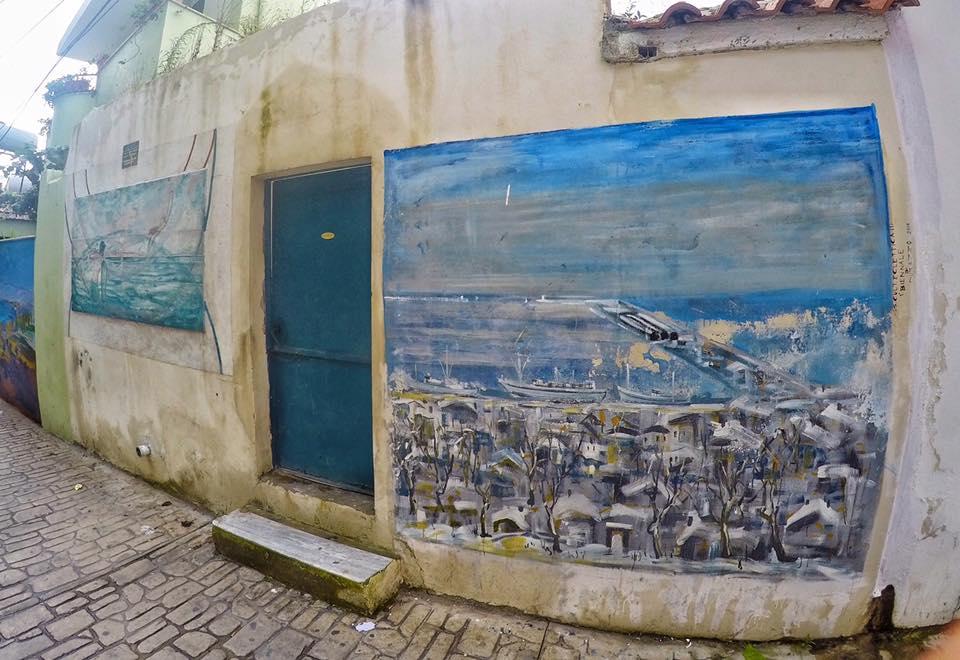 Marvel at the Graffiti art in Durres street