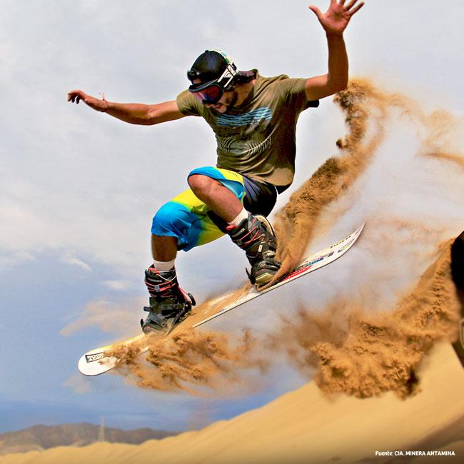 Sand boarding fun