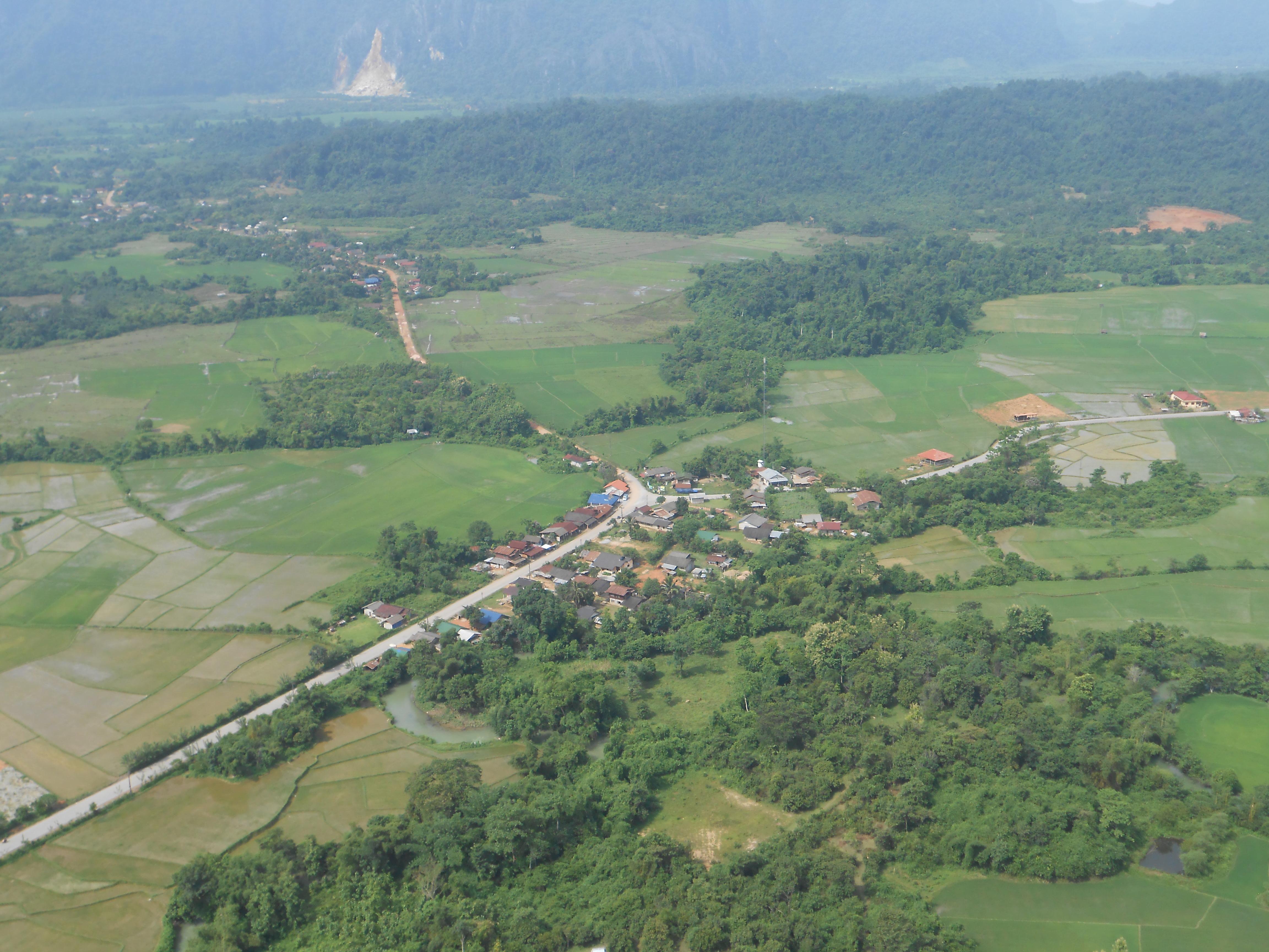 View of Vang Vieng from Pha Ngeun cliff