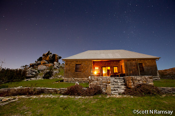 Old stone hut on top of Table Mountain