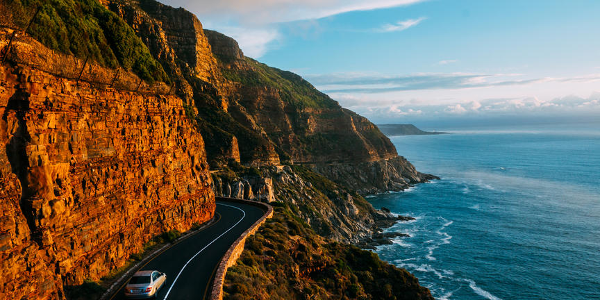 On route to Chapmans Peak
