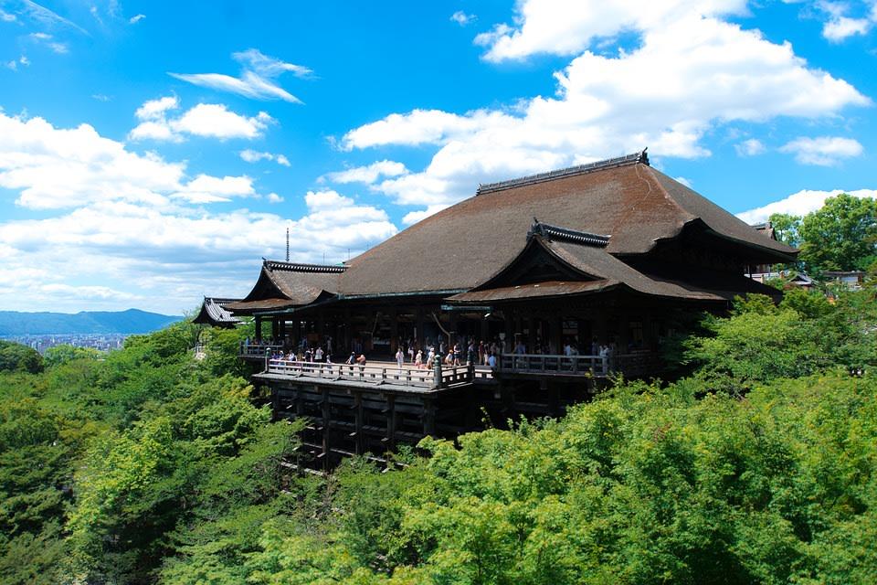 Kiyomizu Dera Buddhist temple.