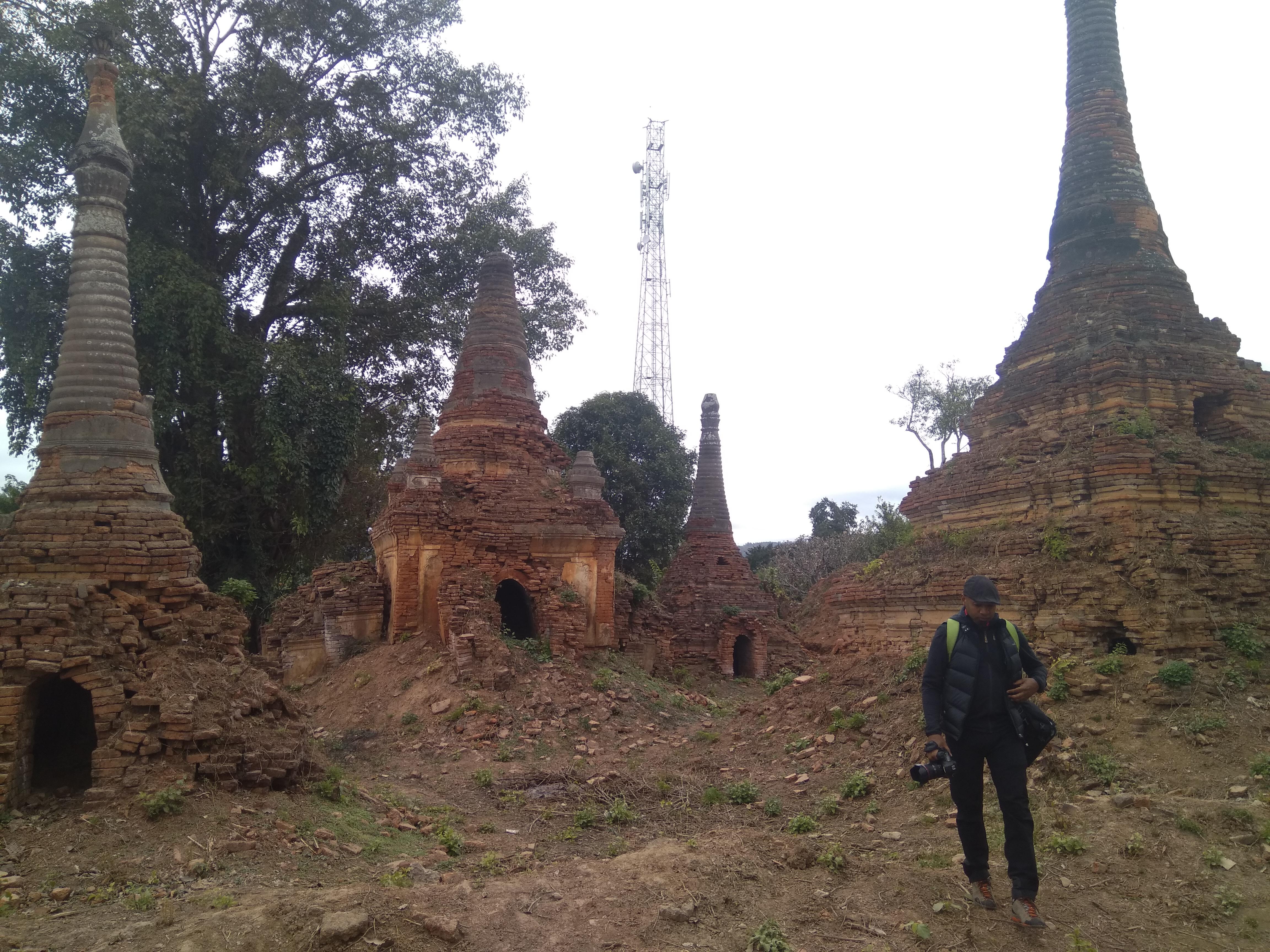Ruined stupa complex