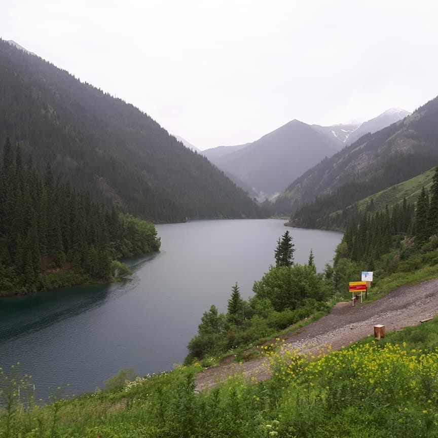 View the Beautiful Kolsai lake