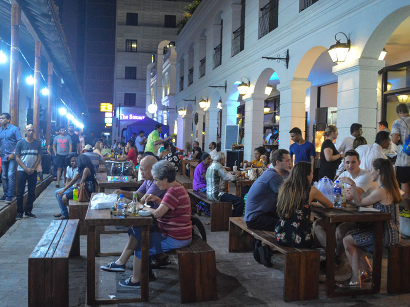 Dining in Galle Street