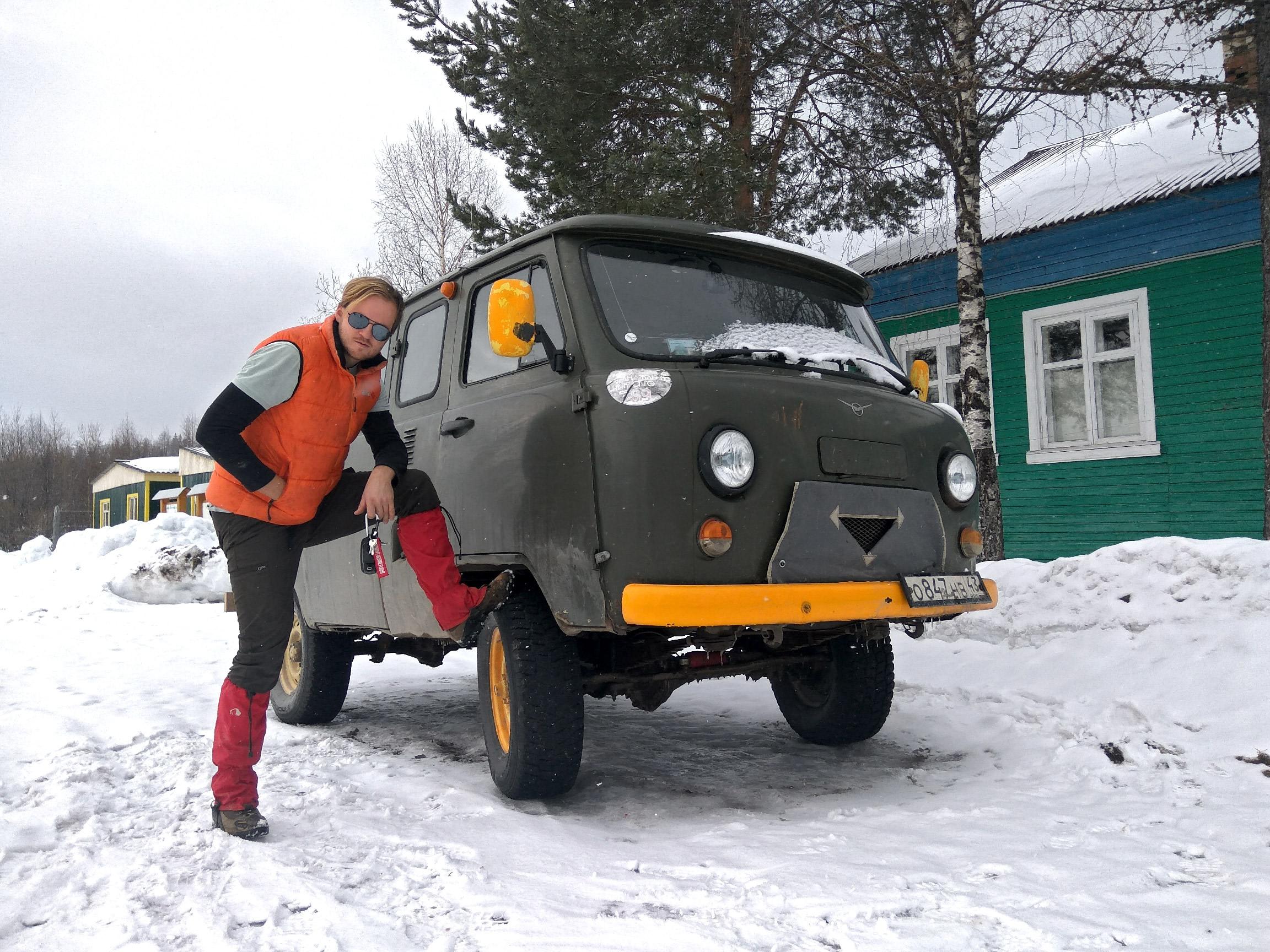 A Tourist With The Military Van-Buhanka