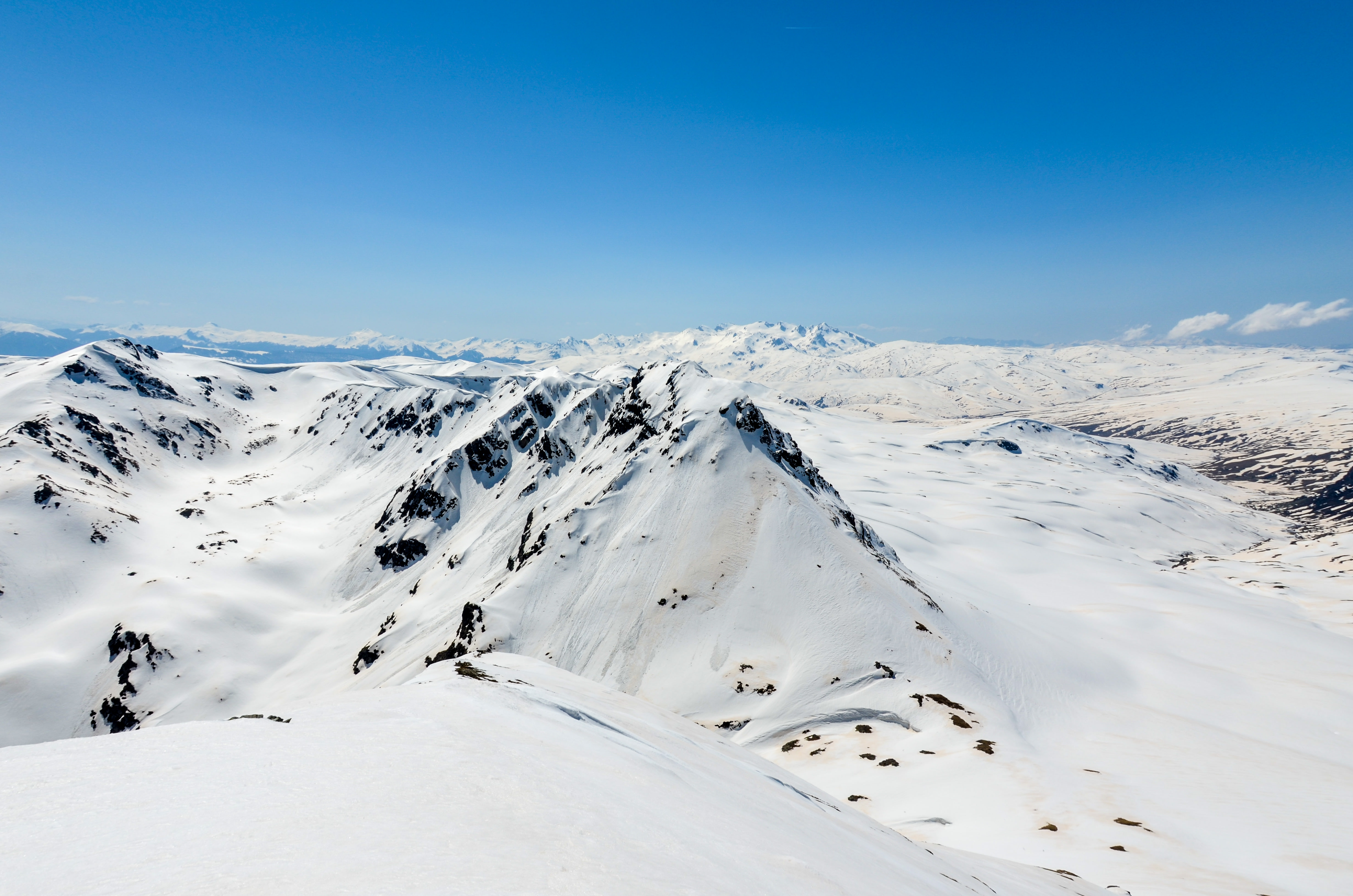 Snow covered Sharr Mountains