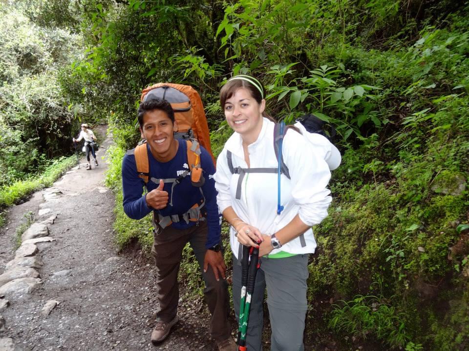 Tourists on their way, trekking