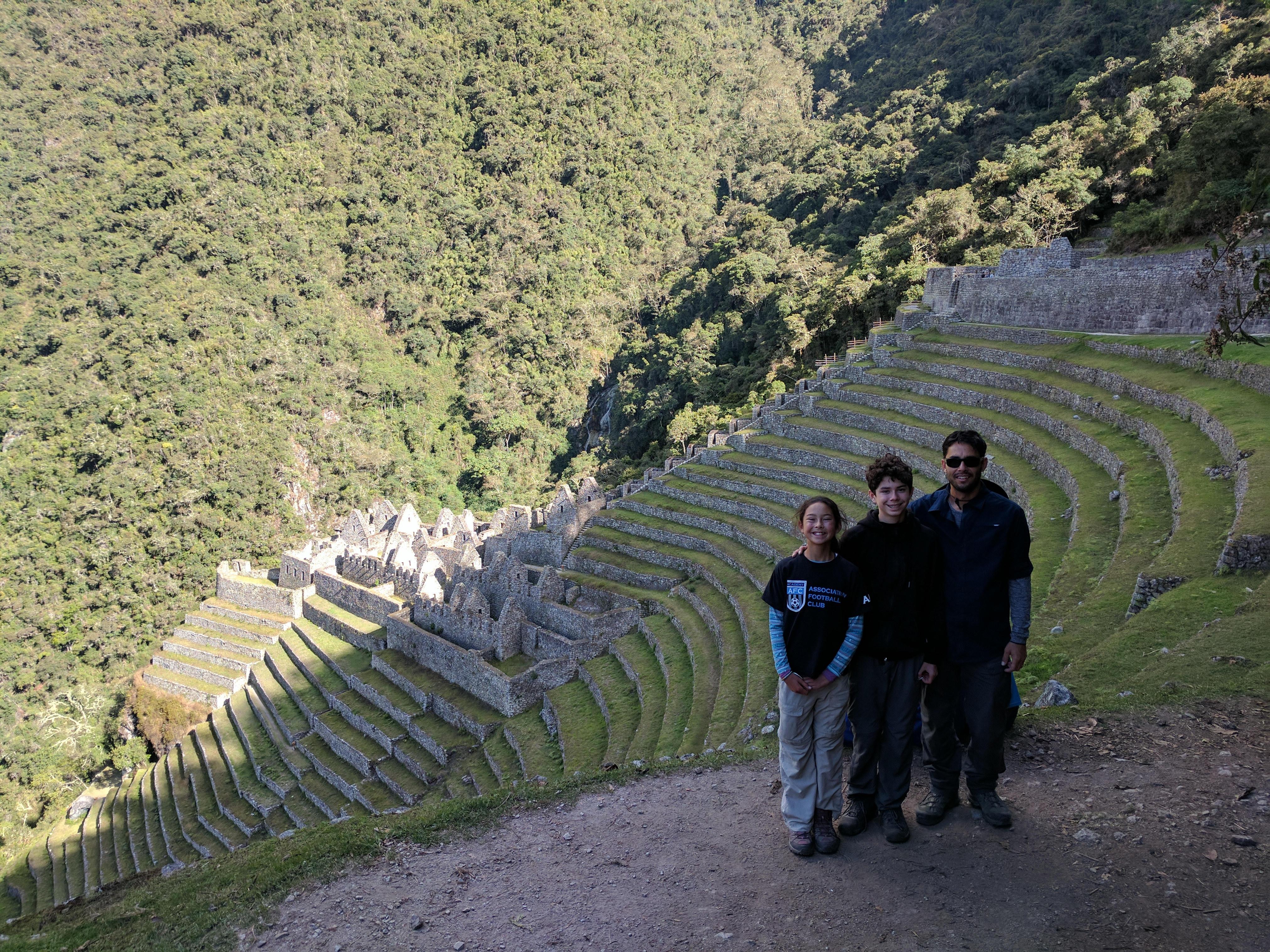 Travelers enjoying at Machu Pichu