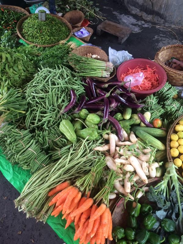 Fresh Vegetables in Inle Lake