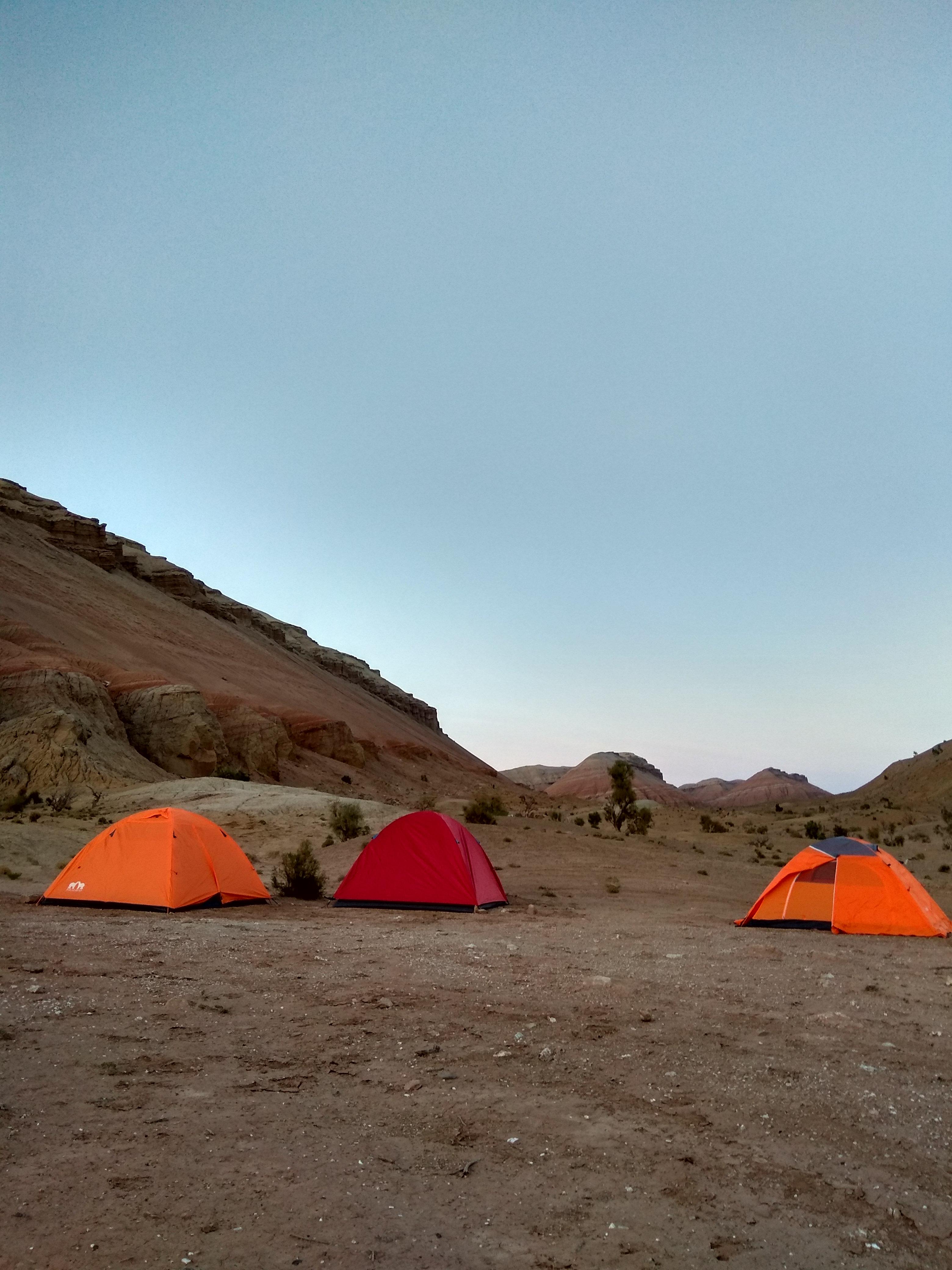 Campsite in Altyn Emel National Park, Kazakhstan