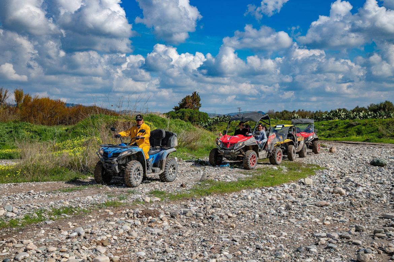 ATV group safari to Aphrodite's Rock