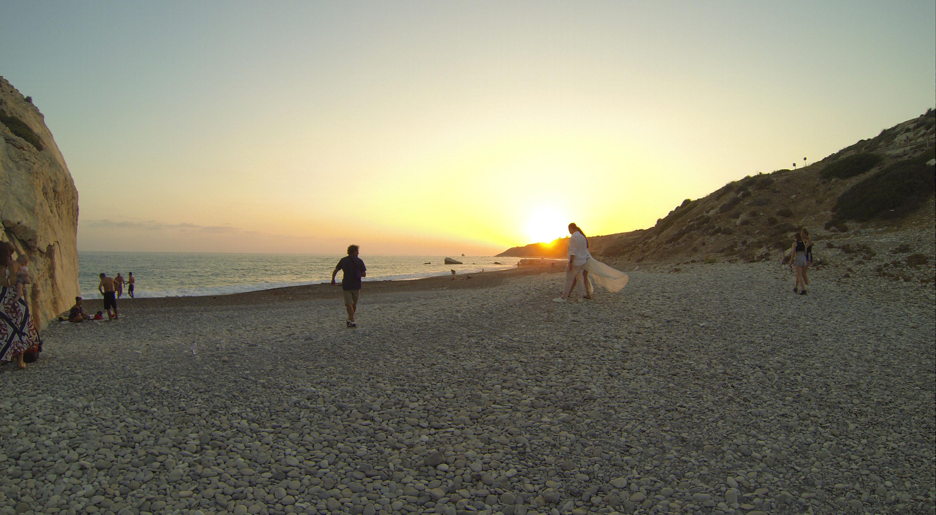At Aphrodite's Rock beach area