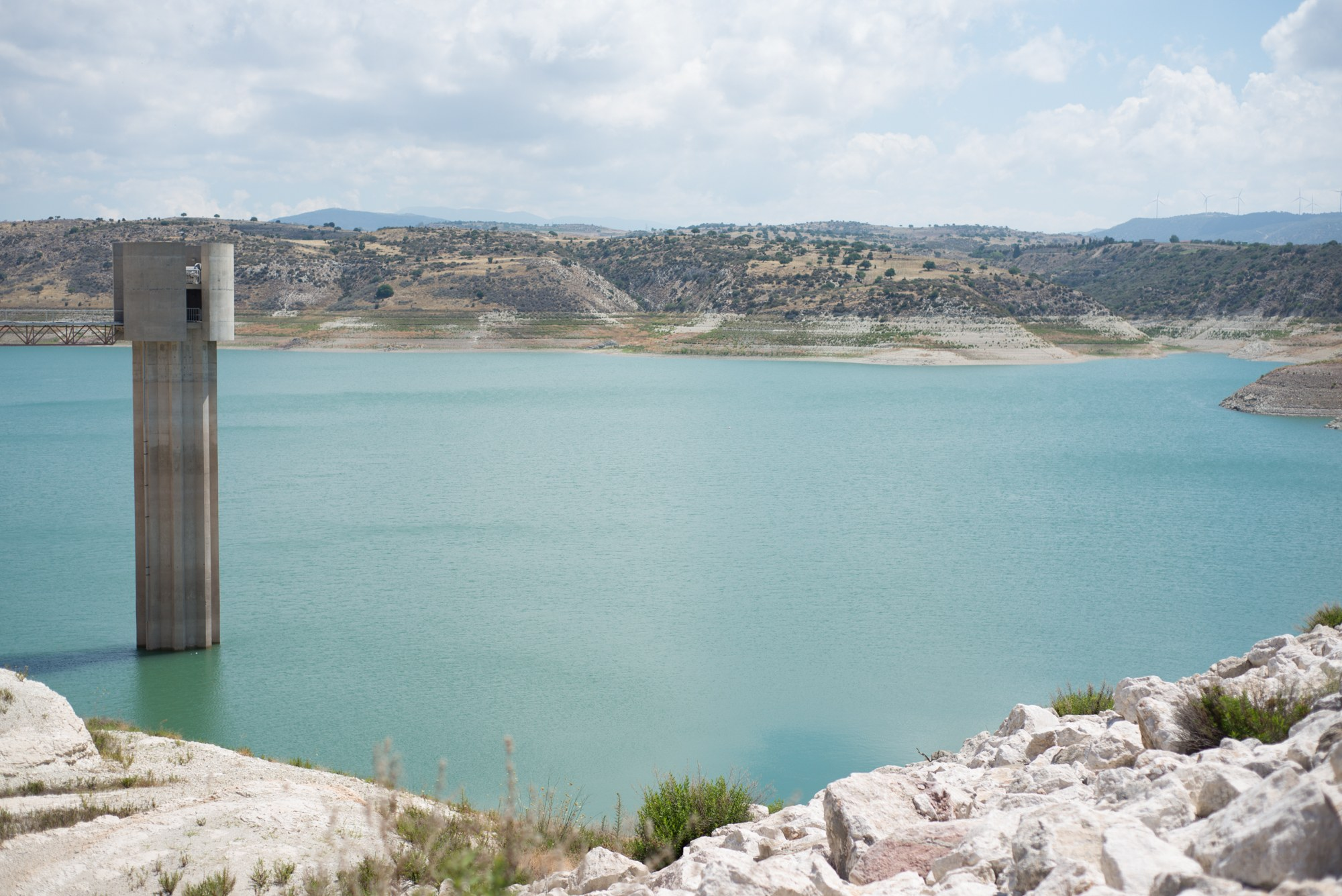 Visiting Asprogremos, the second biggest water reservoir of Cyprus