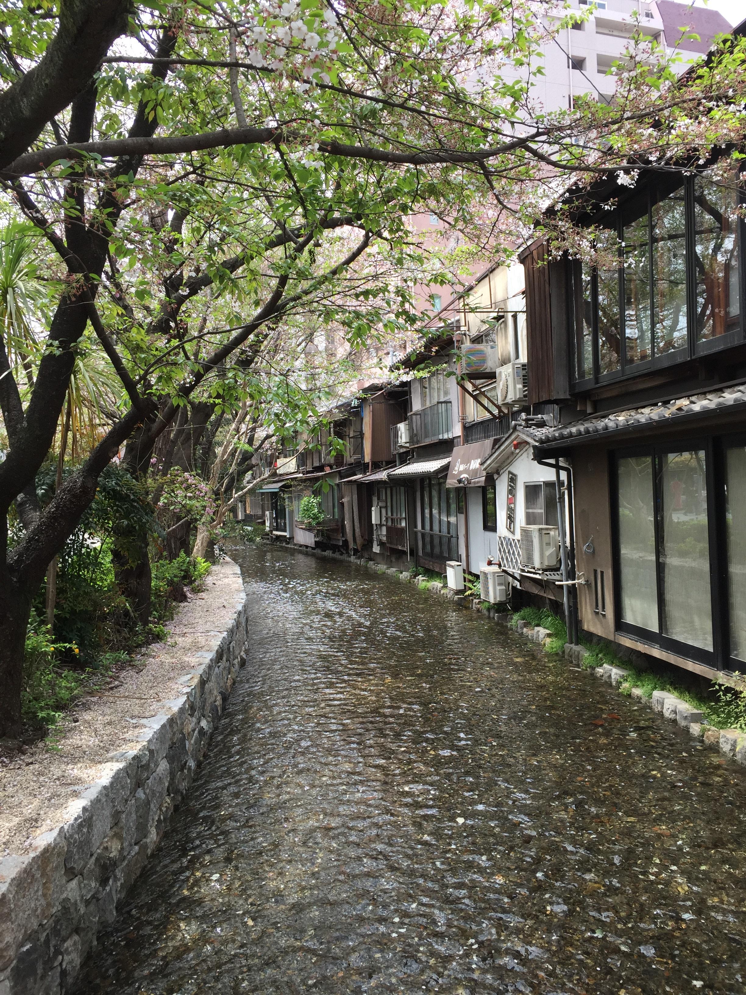 Takase River along Kiyamachi  Street