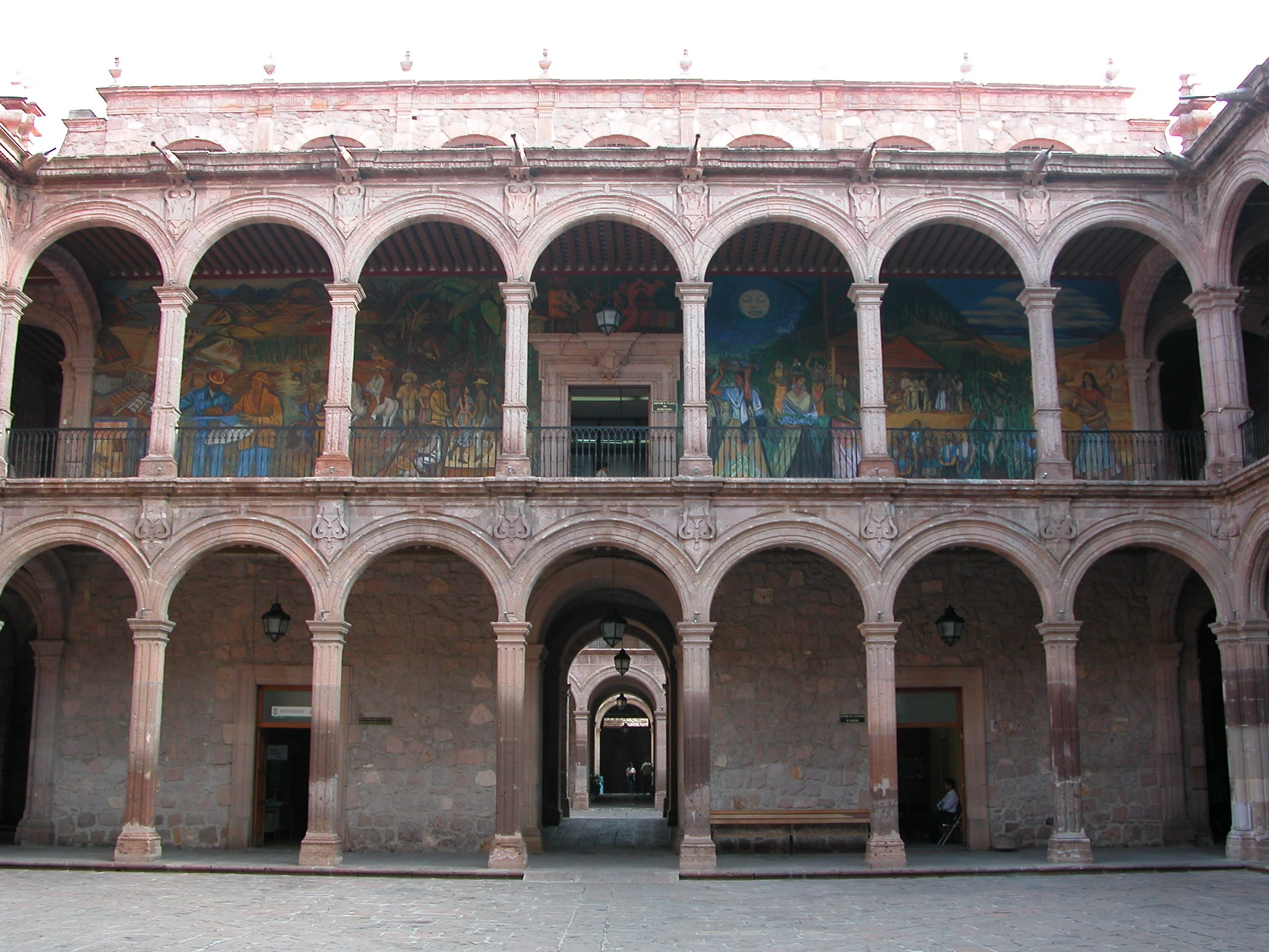 Murals Inside Palace Michoacan State Government