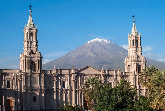 Basilica Cathedral of Arequipa, Peru
