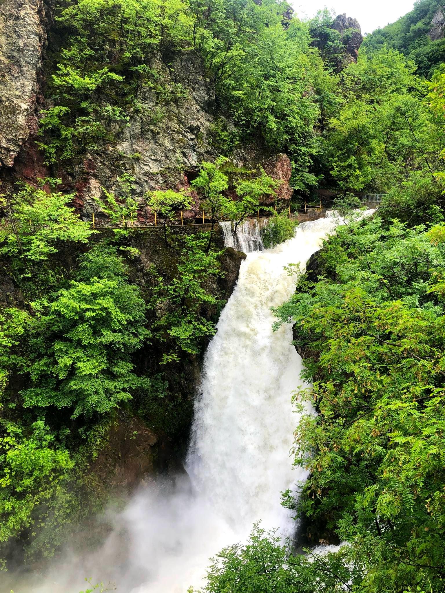 White Drin Waterfall View