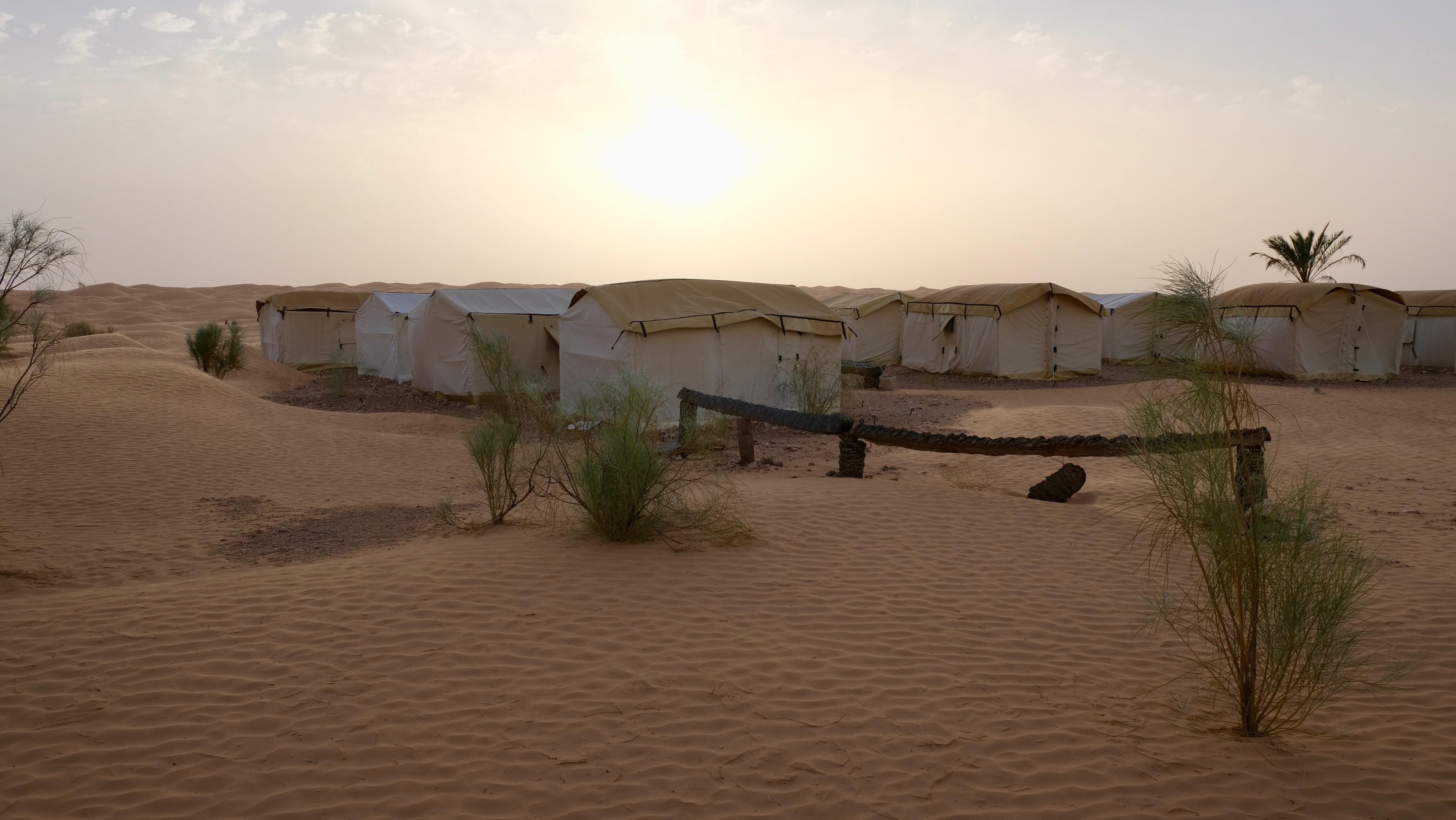 Camp in the Desert in Zmela